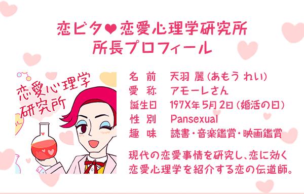 アモーレの恋愛心理学研究所 所長プロフィール